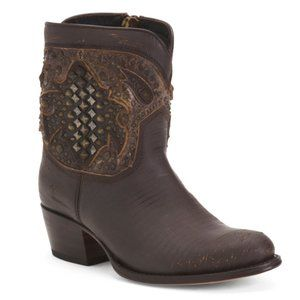 NEW FRYE Deborah Deco Short Boot